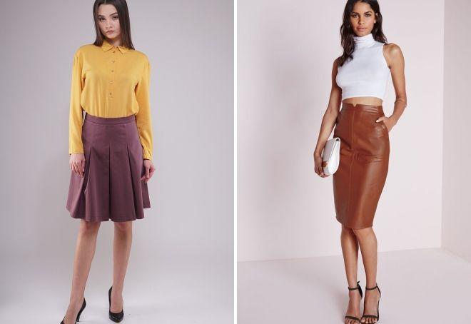 mode brune nederdele