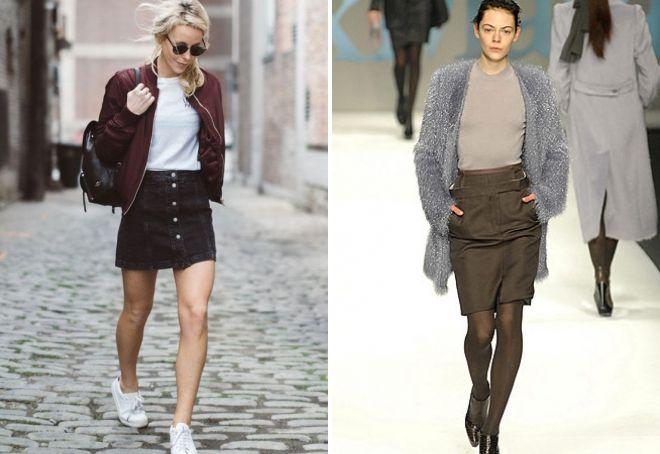 denim brune nederdel