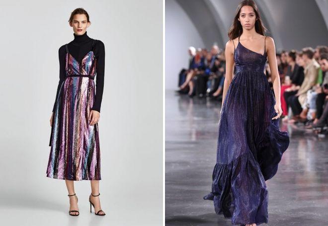 вечерни фустани за новата година 2019