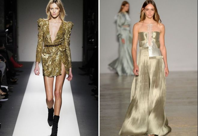 златен фустан за новата година 2019