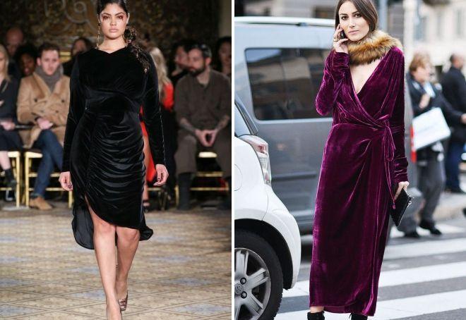 Velvet kjole til det nye år 2019