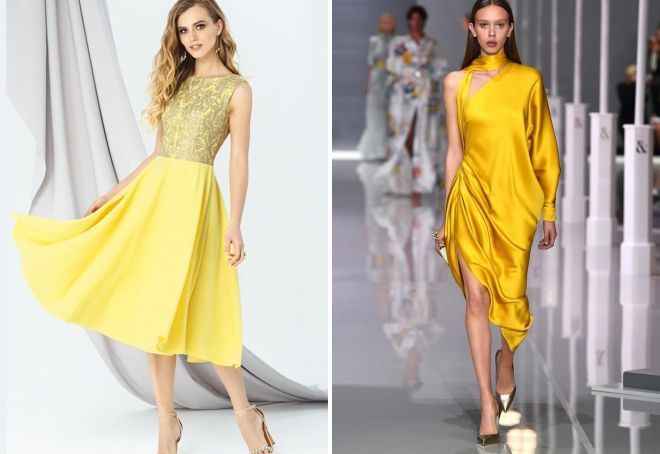 жолт фустан за новата година 2019