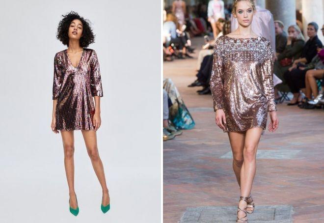 кратки фустани за новата година 2019