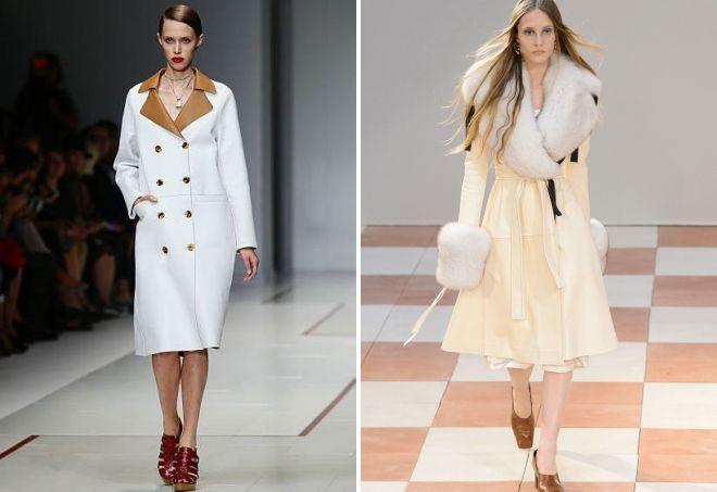 с чем носить белое кожаное пальто