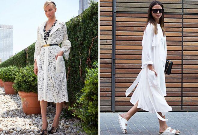ماذا نرتدي مع معطف الصيف الأبيض