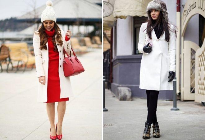 قبعة إلى معطف أبيض