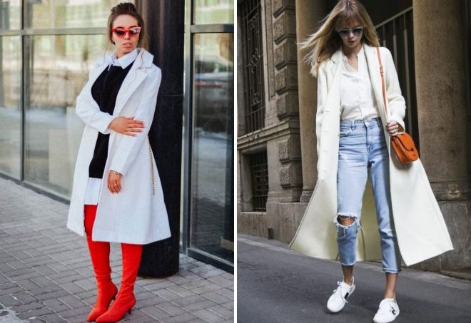 образы с белым пальто