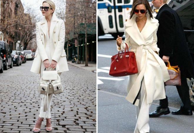 пальто белого цвета