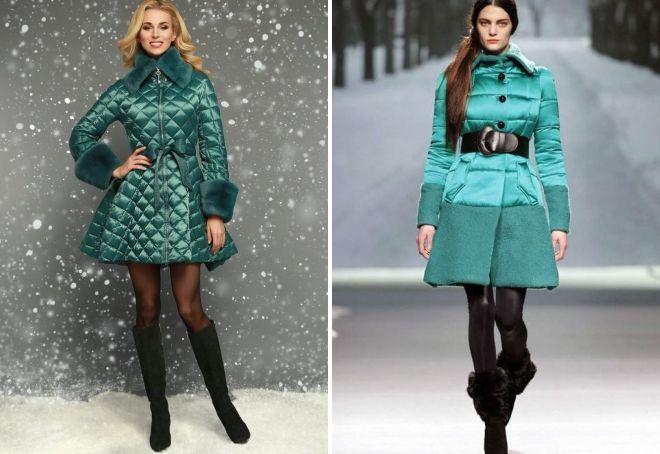 grüne Daunenjacke für Damen