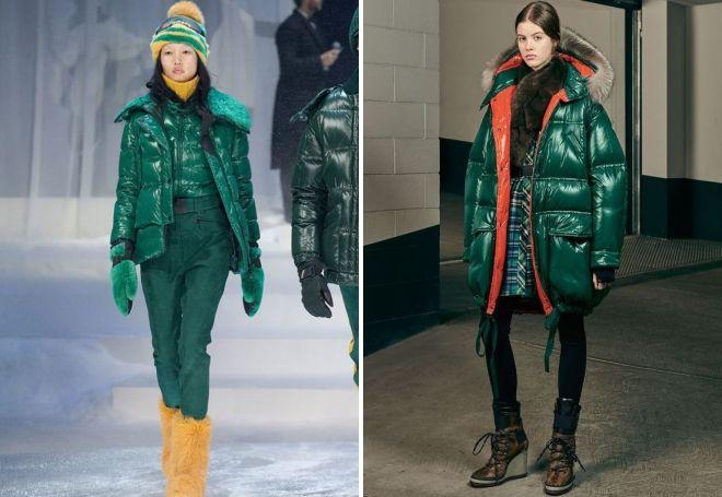 Welche Schuhe sollten Sie grüne Daunenjacke tragen?