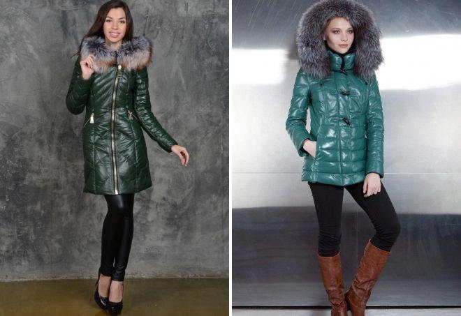 Was Sie zu einer Leder-Grün-Daunenjacke tragen sollten