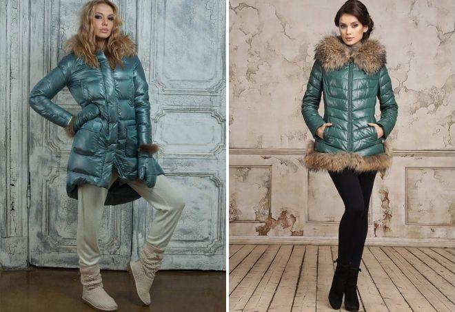 hva skal du ha med en grønn dunjakke med pels