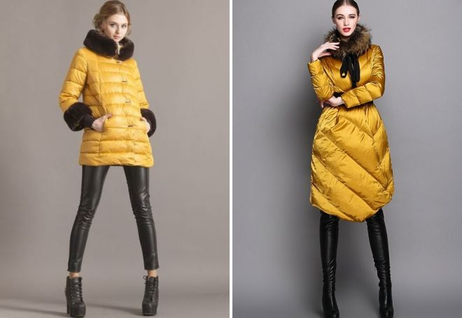 yellow women's coat