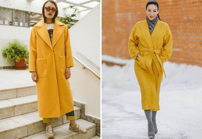 long yellow coat