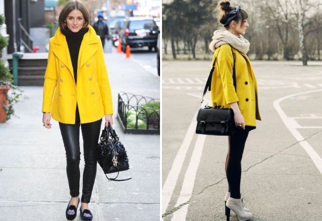 short yellow coat