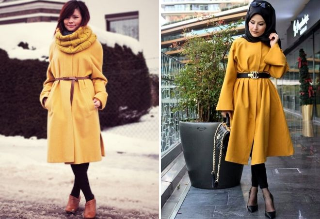 yellow coat accessories
