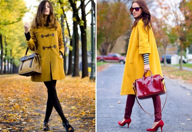 light yellow coat
