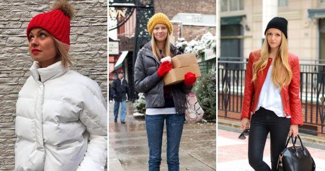 Женская шапка с отворотом куртка