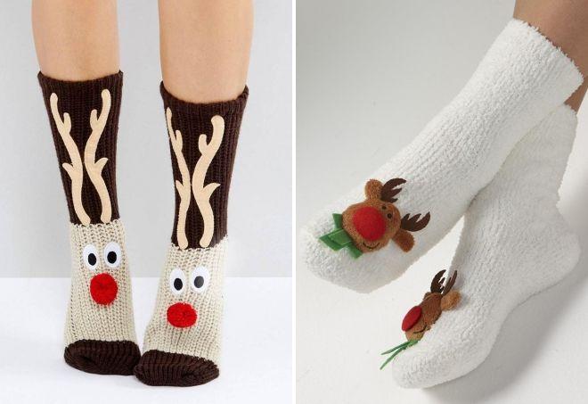 varme sokker med hjort