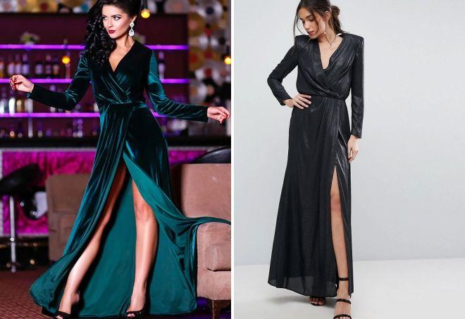apvynioti suknelę su rankovėmis