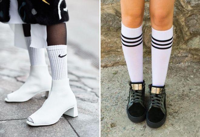 модные высокие носки