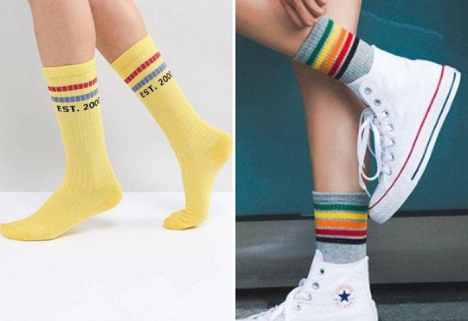 yüksək idman çorabı