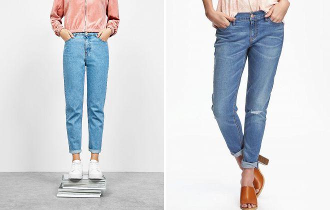 джинсы мом и бойфренды отличия