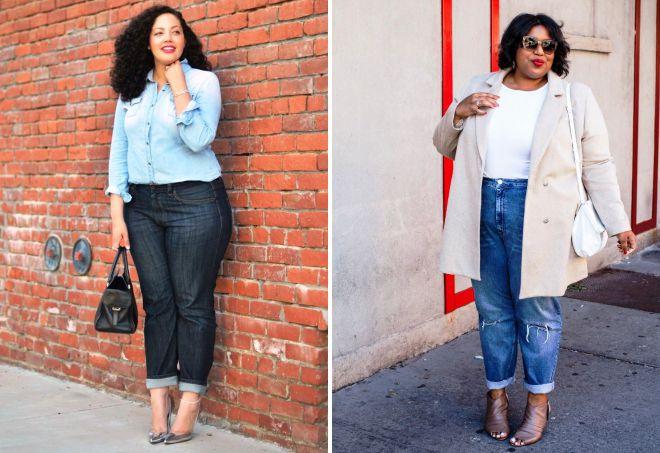 джинсы мом для полных девушек
