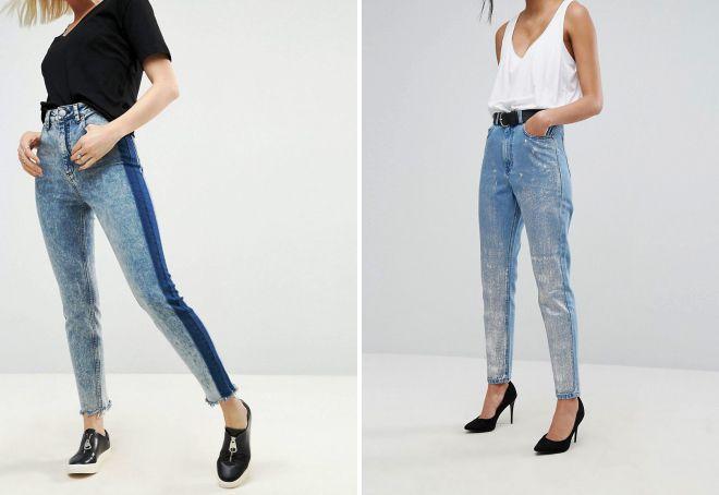 джинсы слим в винтажном стиле