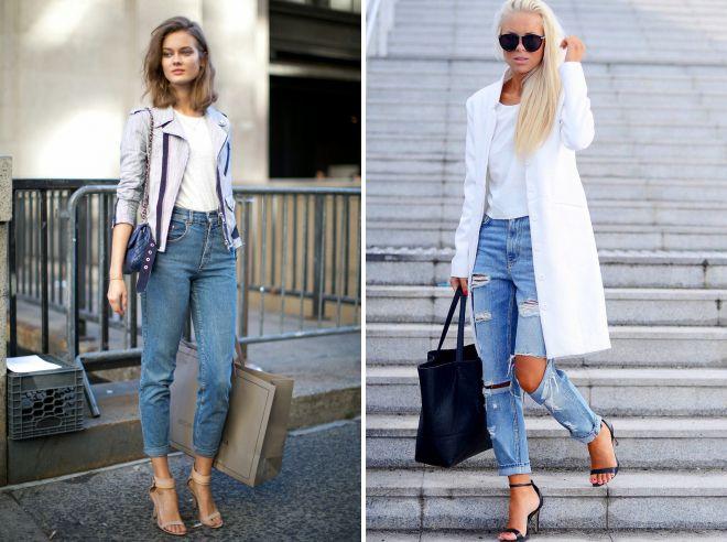как носить джинсы слим