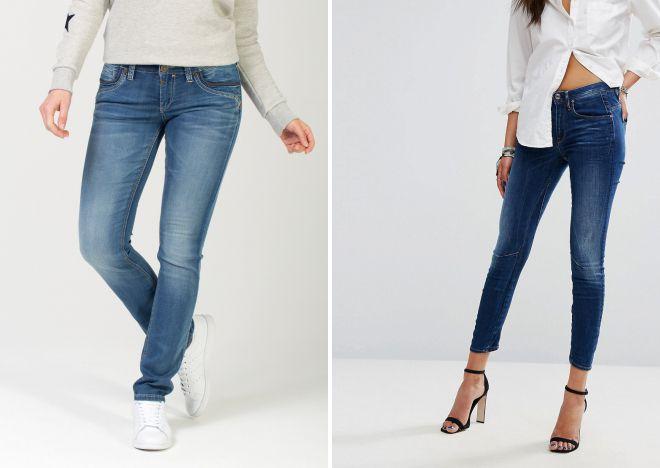 джинсы слим и скинни чем отличаются