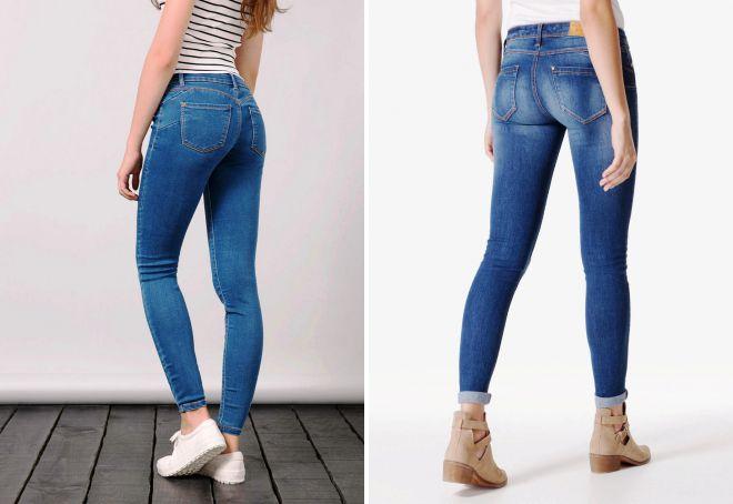 модель слим джинсы