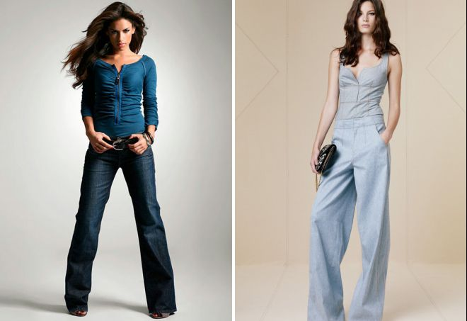 модные джинсы трубы