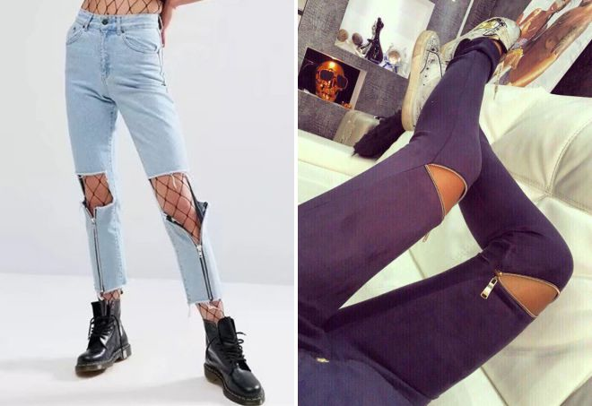 джинсы с дырками 2018