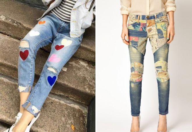 декоративные дырки на джинсах