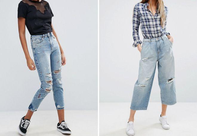 женские джинсы с дырками