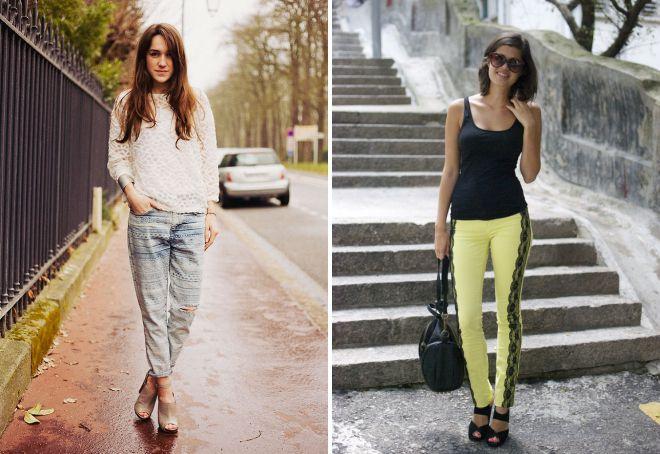 с чем носить джинсы с кружевом