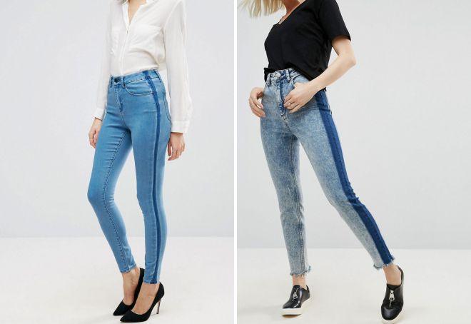 джинсы с лампасами 2018