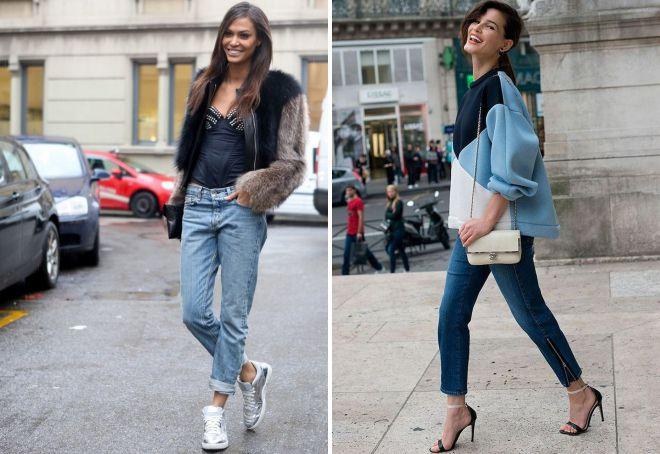 с чем носить джинсы 2018