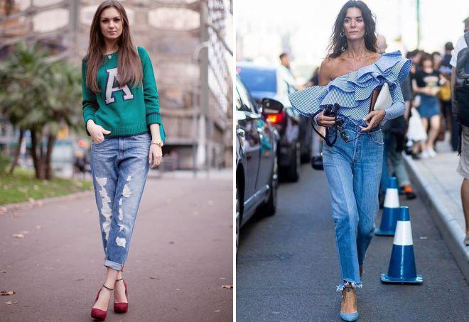 луки с джинсами 2018