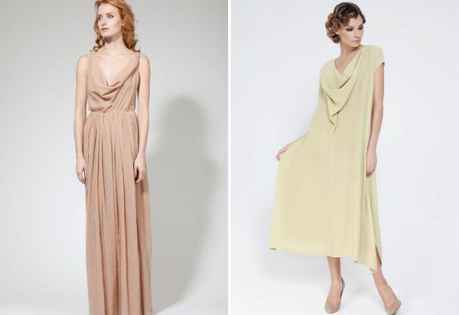 платье с воротником качели