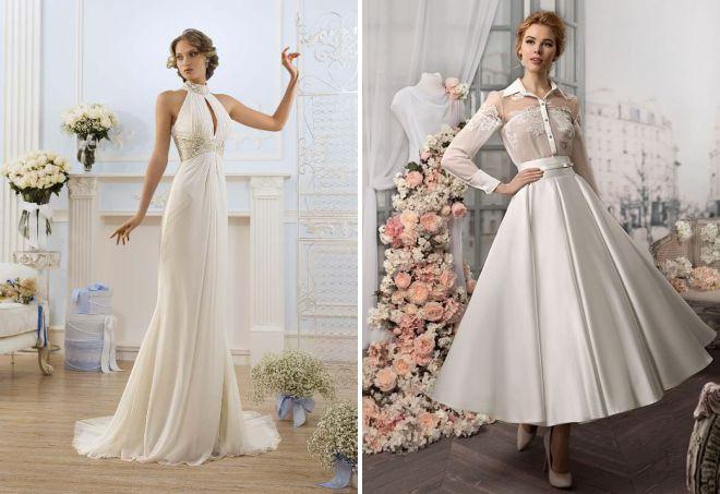 свадебное платье с воротником