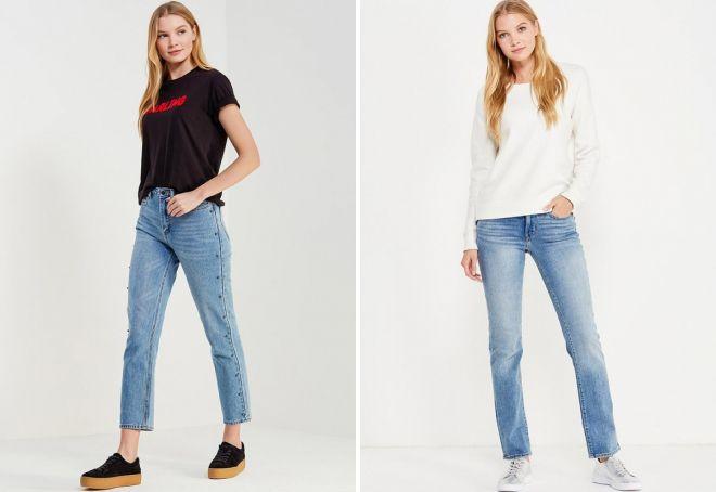 прямые джинсы 2018