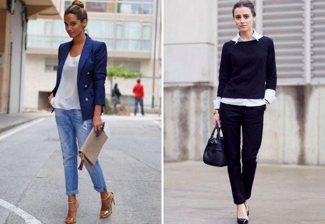 образы с прямыми джинсами
