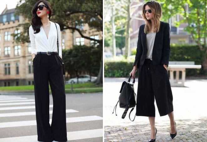 женские широкие классические брюки