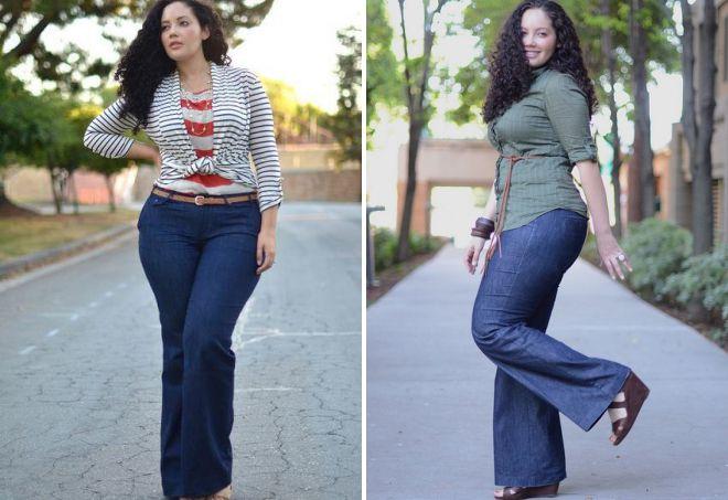 брюки широкого фасона