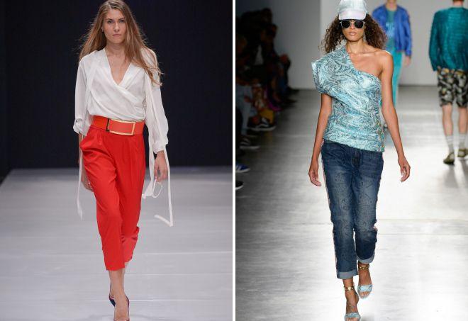 модные брюки тренды весна лето 2018
