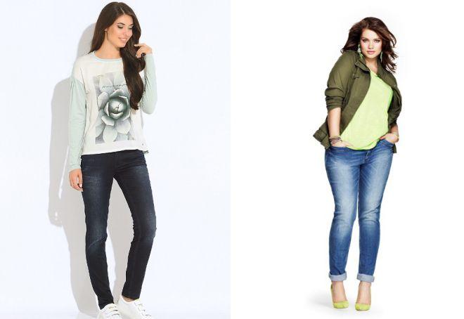 мода на узкие джинсы