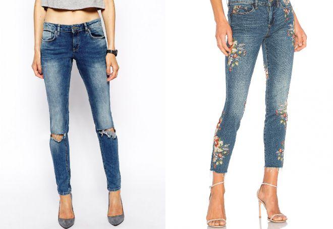 девушки в узких джинсах