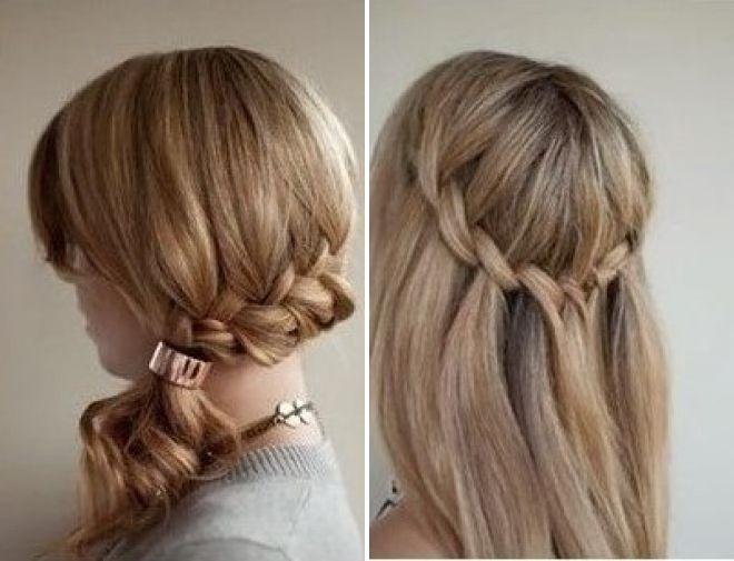 косы с накладными волосами на заколках 2018